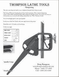 Thompson Lathe Tools sharpening tips