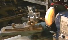 Tool Grinder by poroldchap -- Homemade tool grinder comprised of a tool holder and a swinging arm utilized for directional control. http://www.homemadetools.net/homemade-tool-grinder-2