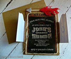 Cowboys & Indians InvitationsSet of 10 by southernbellescharm, $62.50