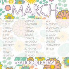 Hier de Doodle a Day lijst voor maart, enjoy!     Here's the Doodle a Day list for March , enjoy!     Een aantal goede redenen om mee te ...