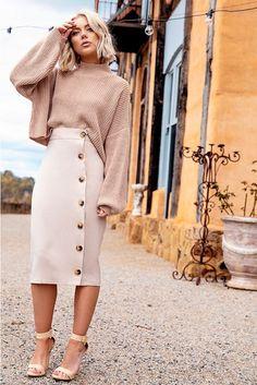 Elegant Midi Skirt Winter Ideas Elegant Midi Skirt Winter Ideas - Austin Skirt (Green) I like pencil plaid skirts - grey pencil skirt Korean Women Fashion Online Retailer Midi Skirt Outfit, Pencil Skirt Outfits, Dress Skirt, Midi Skirts, Beige Skirt Outfit, Pencil Dresses, Winter Skirt Outfit, Summer Skirt Outfits, Work Skirts