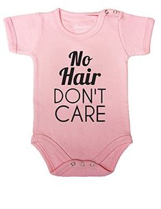 51 BABY ROMPER SHORT ONESIE UNISEX FUNNY NO HAIR DON'T CARE GIFT POLY WRAPPED A&G BRAND ... (6-12, Light Pink). For product info go to: https://all4babies.co.business/51-baby-romper-short-onesie-unisex-funny-no-hair-dont-care-gift-poly-wrapped-ag-brand-6-12-light-pink/