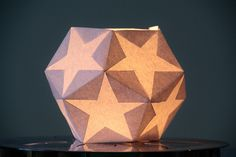 Dodecahedron Star Lantern Tutorial  http://www.homebakedonline.com/2011/11/dodecahedron-star-lantern-tutorial.html