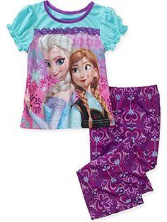 GENNY Disney Frozen Anna and Elsa Short Sleeve 2 Piece Pajama Set - Purple / Turquoise (3T) Disney http://smile.amazon.com/dp/B00LE3Y300/ref=cm_sw_r_pi_dp_ytn7tb04JJJP4