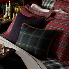 Ralph Lauren, love the plaids...all mixed up, so cozy!
