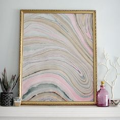 "Gorgeous over sized marbled ""art"" for just a few dollars."