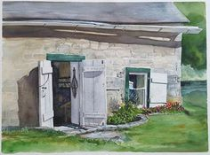 """In this series, plein air painter and instructor Jeanne Mackenzie takes a look at new paintings by contemporary artists and points out why they succeed as painted images. This week, Elena Schackleton's """"The Bait Shack.""""…"""