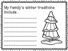 Winter Writing Prompts - 23 total prompts (for winter, Christmas, and Hanukkah) Fun writing prompts for all of winter! Make a class book or a fun bulletin board.