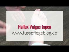 Hallux Valgus tapen - so einfach geht es! - YouTube Massage, Youtube, Tape, Health Fitness, Blog, Sport, Healthy, Bunion Remedies, Salud
