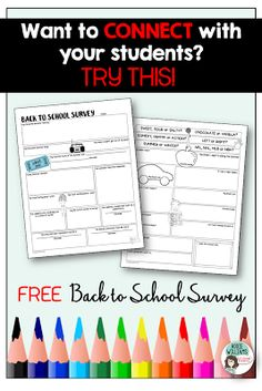 FREE Back to School Survey for Middle / High School Students