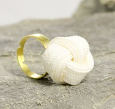 Tie the (White) Knot Ring made from  authentic vintage by JewelrybyLB, $15.00