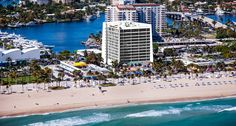 A great aerial shot of Fort Lauderdale Beach where we host our Scavenger Hunts!