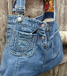 DIY ideas for old jeans: bag made of jeans- DIY-Ideen für alte Jeans: Tasche aus Jeans DIY ideas for old jeans: bag made of jeans - Refaçonner Jean, Jean Diy, Artisanats Denim, Denim Purse, Jean Crafts, Denim Crafts, Jeans Recycling, Reuse Jeans, Jeans Refashion