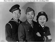 In 1942, like many Korean Americans, the three Ahn siblings, Ralph, Philip, and Susan, children from California's first Korean immigrant family, enlisted in the US military.  LOVE THIS..Koreans are so dear to my heart