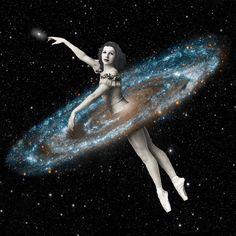 Eugenia Loli Collage - Cosmic Ballerina, Part 3 Collages, Collage Artists, Eugenia Loli, Surreal Photos, Surreal Collage, Surreal Art, Collage Vintage, 3 Arts, Triptych