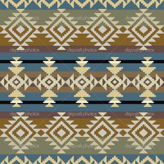 Seamless navajo pattern — Stock Vector © Irmairma #25908387