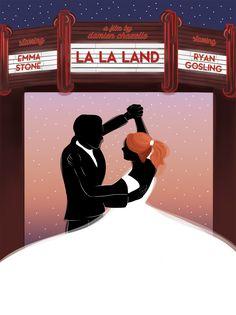 La La Land Movie Poster Illustration