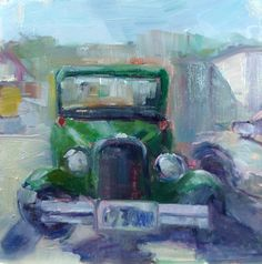 I saw this car parked behind my gym.  It looked like a painting just sitting there.  http://www.dailypaintworks.com/Artists/carol-josefiak-3555
