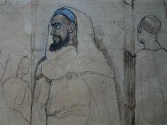 CHASSERIAU Théodore,1846 - Arabe barbu et autres Figures - drawing - Détail 02