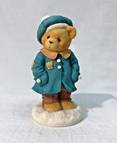 ENESCO Cherished Teddies Alyssa You Warm My Soul Blue Coat & Hat Figurine 533866 | eBay