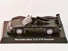 Original Kyosho 1/64 Mercedes-Benz AMG CLK GTR Roadster Black Mini Diecast Sport Car Figure