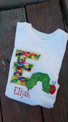 Very Hungry Caterpillar T-Shirt/Onesie #very #hungry #caterpillar #birthday #party #theme #buffet #decorate #book #child #children #kid #toddler #baby #tshirt #shirt #onesie #craft #project #diy