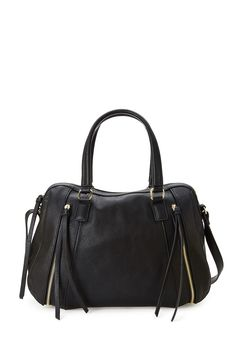 Zippered Crossbody Bowling Satchel | FOREVER21