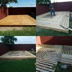 Exterior Patio Area Furniture for Great Houses – Outdoor Patio Decor Pallet Patio Decks, Pallet Patio Furniture, Backyard Patio Designs, Diy Deck, Backyard Projects, Diy Patio, Deck From Pallets, Pallet Walkway, Table Plans