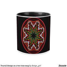 Fractal design on a two tone mug