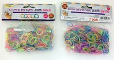 Glow Bands, Rubber Loom Rainbow Glow 1200 Pcs Rubber Bands with 48 S Clips, Latex Free Rubber Bands Refill Pack, Friendship Bracelets, Charm Bracelets Wristbands -- For more information, visit image link.