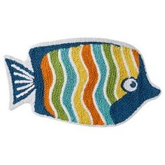 Circo sea life bath rug sea 26 x30 cute mommy for Fish bath rug