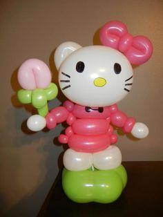 Hello Kitty. A Twist of Fun Balloon art