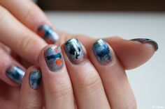 "Painting reproduction on nails (""Impression, Soleil levant"" Monet)  - Chlokeispolished.com"