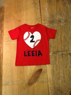 Girls Baseball Shirt. Personalized Name and by EverythingSorella