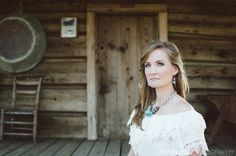 Julie (Event Day Asst.) will make such a gorgeous bride!! Rustic Texas style engagement shoot