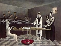 To see a work of art by Leonora Carrington such as Adieu Ammenotep, 1960
