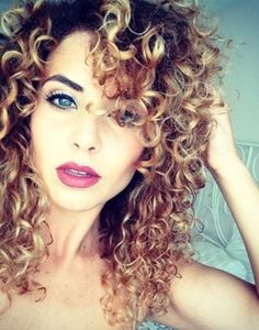 I would seriously kill to have crazy curly hair