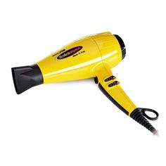 BaByliss Pro Nano Titanium ItaliaBrava Full-Size Hair Blow Dryer, Features a Ferrari Designed - 2000 Watt Engine, with Tri-Port Ionic Generator Eliminates Hair Blow Dryer, Ferrari, Yellow Black, Fashion, Moda, La Mode, Fasion