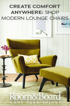 With the right pieces, even the smallest corner of your home can be a beautiful, relaxing space. Start your own nook with one of our modern lounge or accent chairs.