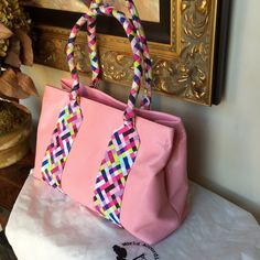"""❗️Price Drop❗️WORLD ACCORDING TO JESS Bag World According to Jess Handbag - Like new; may have used once! Three large compartments.  Fun for summer! Dust bag included. Approximately 16"""" Across X 10.5 Tall (not including handles) & 5.5"""" wide! World According to Jess Bags Shoulder Bags"""