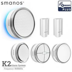 Shop for smanos Smart Home DIY Kit - White. Get free delivery On EVERYTHING* Overstock - Your Online Home Automation & Security Destination! Security Tools, Smartphone, Mantle Clock, Alarm System, Sem Internet, Diy Kits, Windows And Doors, Nice, Products
