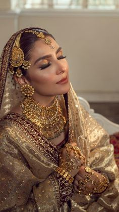 Asian Bridal Dresses, Asian Wedding Dress, Pakistani Bridal Dresses, Wedding Dresses For Girls, Pakistani Dress Design, Pakistani Outfits, Pakistani Bridal Couture, Bridal Chuda, Indian Bridal Makeup