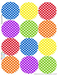 polka dot circle labels