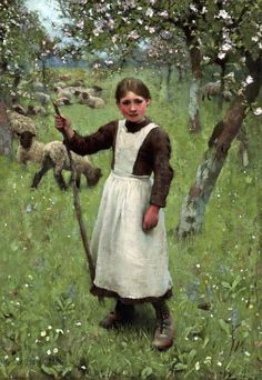 George Clausen  The Shepherdess