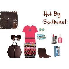 """""""Hot Pink in the Southwest"""" by martha-hill-carter on Polyvore"""