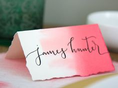 Custom Hand Lettered Place Cards