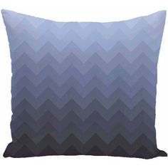 Simply Daisy 16 inch x 16 inch Depth Perception Stripes Print Pillow, Blue