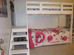 Ana White | Bunk Bed From a Loft Bed - DIY Projects