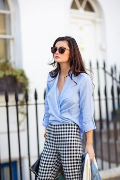 I love the way classic gingham trousers work throughout the seasons, they're so versatile. I bought these a few years ago and now I wish I had bought two pairs. I love them with blue and denim. They work just as well with camel, all black or burgundy though.