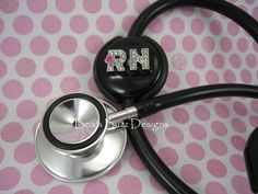 RN Steth BLING Registered Nurse  Stethoscope Id by BeasBuzzDesigns, $17.00